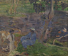 Paul Gauguin - On the shore of the lake at Martinique - Google Art Project.jpg