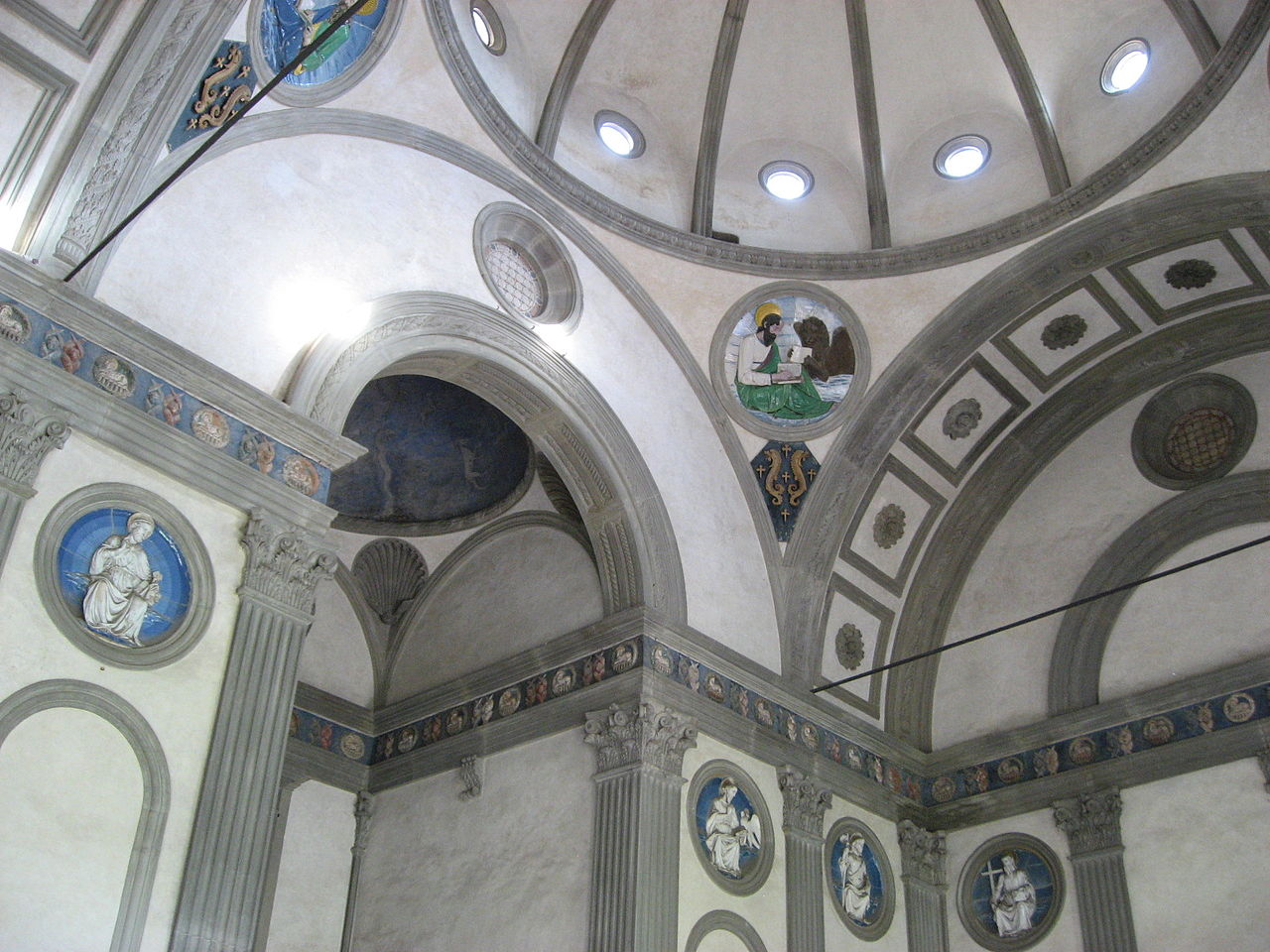 La cappella Pazzi, interno, Firenze
