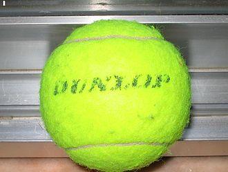Dunlop Sport - A Dunlop tennis ball.
