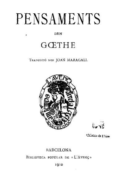 File:Pensaments den Gœthe (1910).djvu