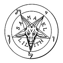 Satanic Pentagram with the Goat of Mendes in the middle