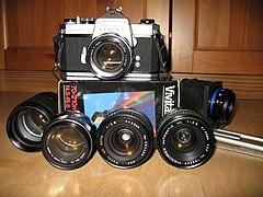 Pentax Spotmatic and lenses.JPG