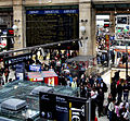 People standing in ticket queue at Gare du Nord, Paris.jpg