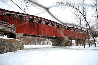 Elgin, Quebec - Powerscourt Covered Bridge over the Chateauguay River