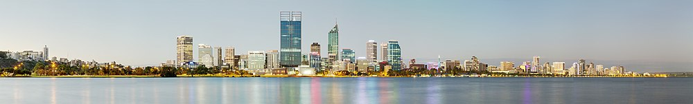 Panorama urbano de Perth, visto desde Mill Point.