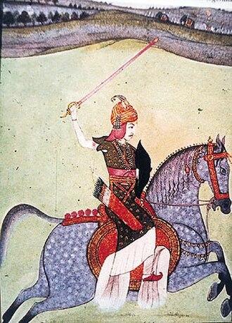 Baji Rao I - Image: Peshwa Baji Rao I riding horse