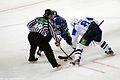 Petr Vrána vs. Martin Cibák 2011-09-26 Amur—Heftekhimik KHL-game.jpeg