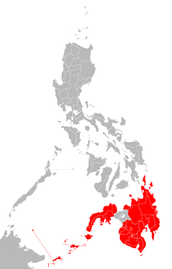 Location of Mindanao and Sulu