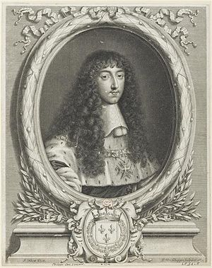 Philippe I, Duke of Orléans - Philippe while Duke of Anjou, after Jean Nocret.