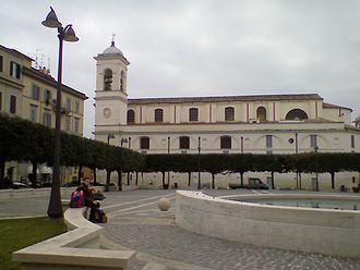Albano Laziale - Piazza Pia was bombed during World War II