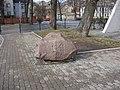 Piemiņas akmens sinagogas nodedzināšanai 04.07.1941. Rīgas Horālās Sinagogas (1871 P.Hardenaks) piemiņas vietā, Gogoļa iela 25, Rīga - panoramio.jpg