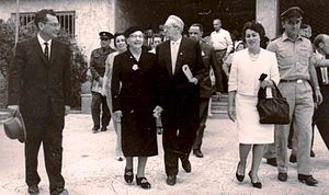 Rachel Yanait Ben-Zvi - Ben-Zvi with her husband (centre) on a visit to Rehovot