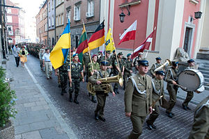 Center of Military Chaplaincy - Ukrainian Soldiers take part in a pilgrimage to Częstochowa