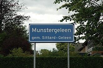 Munstergeleen - Image: Plaatsnaambord Munstergeleen