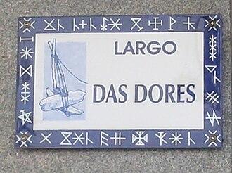 Largo das Dores - Dores Square plate.