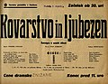 Plakat za predstavo Kovarstvo in ljubezen v Narodnem gledališču v Mariboru 7. aprila 1940.jpg