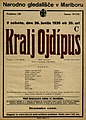 Plakat za predstavo Kralj Ojdipus v Narodnem gledališču v Mariboru 26. junija 1926.jpg