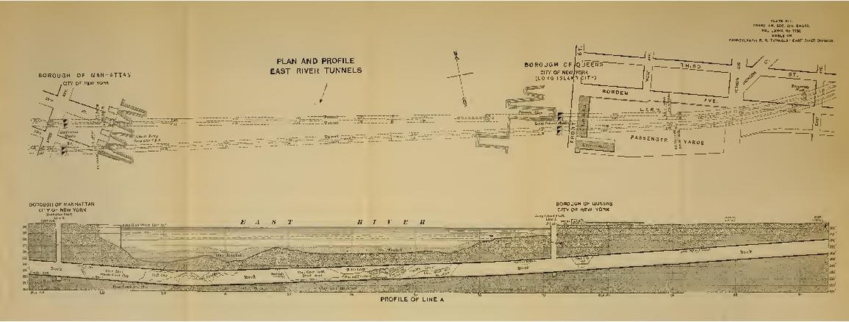 File Plan And Profile East River Tunnels Pdf Wikimedia Commons