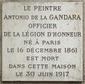 Plaque Antonio de La Gandara, 22 rue Monsieur-le-Prince, Paris 6.jpg