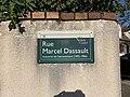 Plaque Rue Marcel Dassault - Noisy-le-Grand (FR93) - 2021-04-24 - 2.jpg