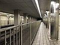 Platform of Awaza Station (Sennichimae Line) 4.jpg