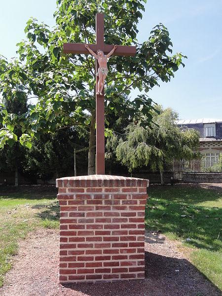 Pleine-Selve (Aisne) croix de chemin
