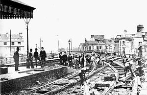 Plymouth Millbay railway station - Converting the gauge, 21 May 1892