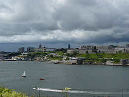 Plymouth Hoe vista da Mount Batten