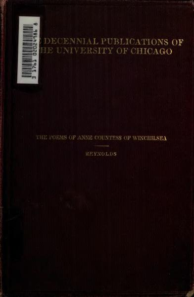 File:Poems of Anne Countess of Winchilsea 1903.djvu