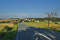 Pohled na vesnici od jihozápadu z hlavní silnice, Luká, okres Olomouc.jpg