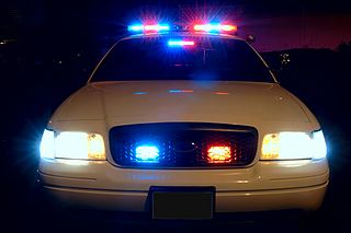 Police Car Lights via Wikimedia Commons