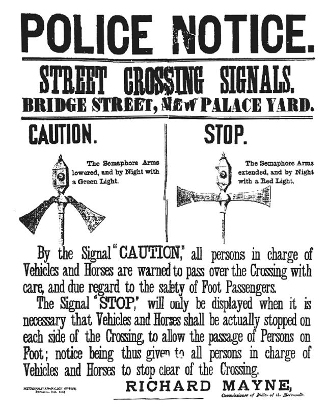 Police crossing notice 1868