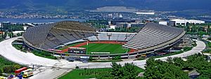 Das Stadion Poljud in Split