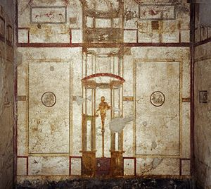House of Loreius Tiburtinus - Painting on south wall of oecus