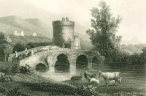 Via Tiburtina - The Ponte Lucano, with tomb of Plautius Lucanus, c. 1840