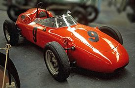 A bright orange 718 as driven by Carel Godin de Beaufort in F1 races