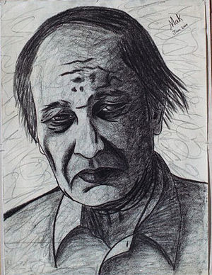 """Bashir Mirza - Portrait of Bashir Mirza by Muhammad Arshad Khan, also known as """"MAK"""""""