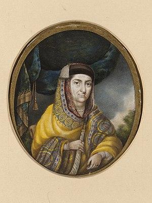 Begum Samru - Portrait of Begum Samru