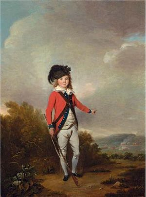 John Dalling - Dalling's son Lieutenant John Windham Dalling (1769-1786), the first, by Philip Reinagle (1749-1833).