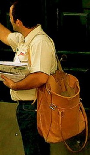 Mail satchel - Image: Postman mail satchel