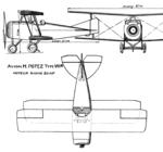 Potez VIII 3-view L'Aéronautique January 1921.png