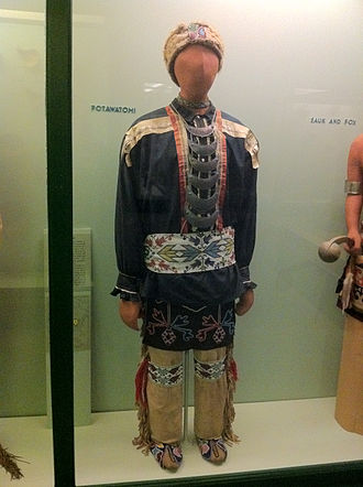 Chicago - Traditional Potawatomi regalia on display at the Field Museum of Natural History