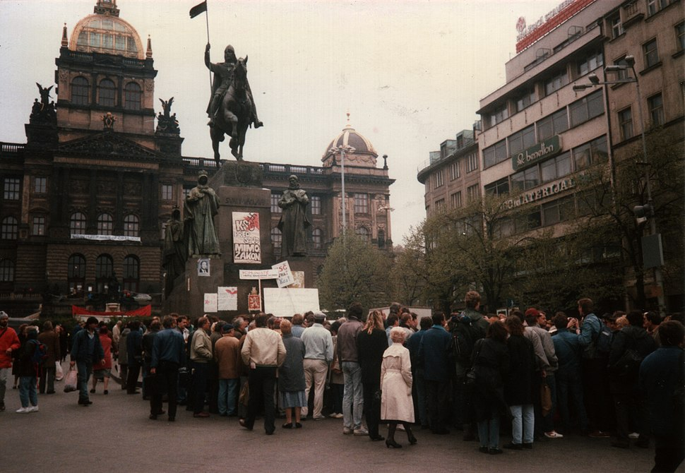 Prague Demonstration April 1990