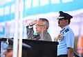 Pranab Mukherjee at the presentation of the Presidential Standards to IAF's 25 and 33 Squadrons, at Air Force Station, Sulur in Tamil Nadu. The Chief of Air Staff, Air Chief Marshal N.A.K. Browne is also seen.jpg