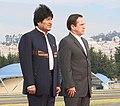 Presidente boliviano, Evo Morales visita a Gobierno Nacional. Canciller Patiño recibe en base aérea (5079401150).jpg