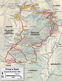 Map of Price's Raid