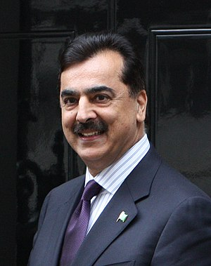 Yousaf Raza Gillani - Image: Prime Minister of Pakistan (7171004240) (cropped)