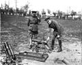 Prince Arthur of Connaught and Julian Byng inspect Lanz mortar after Battle of Vimy Ridge 1915 LAC 3397824.jpeg