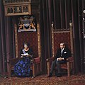Prinsjesdag Koningin Beatrix leest Troonrede (rechts Prins Claus ), Bestanddeelnr 253-8792.jpg