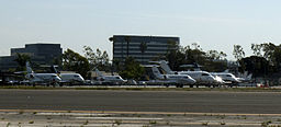 Private Jets on the tarmac at John Wayne Airport photo D Ramey Logan
